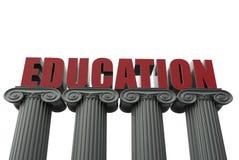 Educação no conceito das colunas Foto de Stock Royalty Free