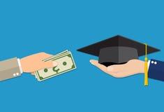 Educação para o conceito do dinheiro ilustração royalty free