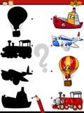 A educação sombreia desenhos animados do jogo Foto de Stock Royalty Free