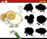 A educação sombreia desenhos animados do jogo Imagens de Stock