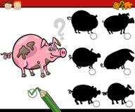 A educação sombreia desenhos animados do jogo Fotos de Stock Royalty Free