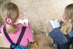 Educación: clase del ourdoor Imágenes de archivo libres de regalías