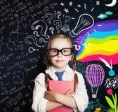 Educación de la creatividad, nuevas ideas y derecha y hemisferios izquierdos fotografía de archivo libre de regalías