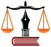 Educación de la ley ilustración del vector