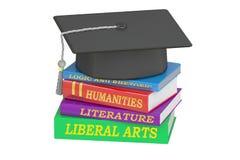 Educación de las humanidades, representación 3D stock de ilustración