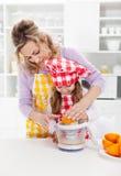 Educación de los niños para una dieta sana y una vida Imagen de archivo