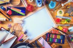 Educación, de nuevo a concepto de la escuela con el espacio de la copia fotografía de archivo