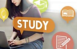 Educación del estudio que aprende concepto de la penetración de la mejora imagen de archivo libre de regalías