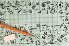 Educación del TRONCO Matemáticas de la ingeniería de la tecnología de la ciencia Foto de archivo libre de regalías