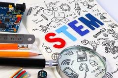 Educación del TRONCO Matemáticas de la ingeniería de la tecnología de la ciencia Fotos de archivo libres de regalías