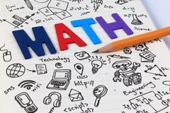 Educación del TRONCO Matemáticas de la ingeniería de la tecnología de la ciencia fotos de archivo