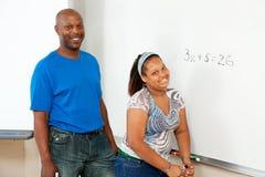 Educación del VÁSTAGO - African-American Imagenes de archivo