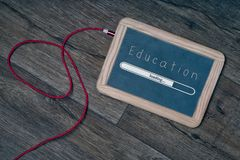 Educación digital del concepto de la escuela de la pizarra Imagen de archivo libre de regalías