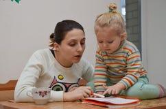 Educación en casa Foto de archivo