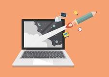 Educación en línea o concepto del aprendizaje electrónico Imagen de archivo libre de regalías