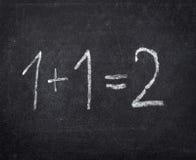 Educación escolar de la sala de clase de la matemáticas de la pizarra foto de archivo libre de regalías