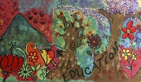 Educación impulsora mural de la calle Fotografía de archivo libre de regalías