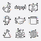 Educación Infographic Fotografía de archivo libre de regalías
