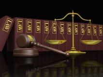 Educación legal ilustración del vector