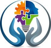 Educación que aprende el logotipo stock de ilustración