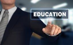 Educación que empuja el ejemplo del concepto 3d stock de ilustración
