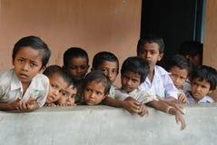 Educación rural en la India Fotos de archivo libres de regalías