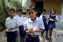 Educación rural en la India Fotos de archivo