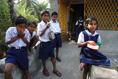 Educación rural en la India Imagenes de archivo