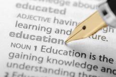 Educación - serie del diccionario Foto de archivo