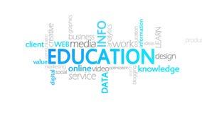 Educación, tipografía animada libre illustration