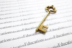 Educación y clave fotos de archivo