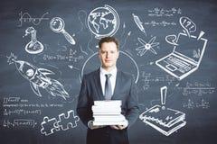 Educación y concepto de las finanzas stock de ilustración