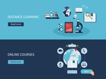 Educación y cursos en línea ilustración del vector