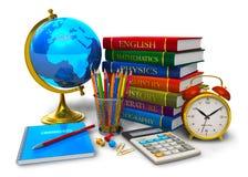 Educación y de nuevo a concepto de la escuela stock de ilustración