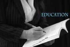 Educación y libro abierto Imagenes de archivo