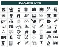 Educación y pictograma negro de la escuela Foto de archivo libre de regalías
