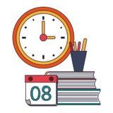 Educaci?n y fuentes de escuela ilustración del vector