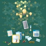 Educación: Consejo escolar, entrenamiento, universidad, universidad Imágenes de archivo libres de regalías