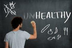 Educação da dieta saudável Foto de Stock