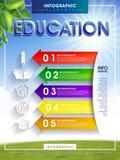 Educação infographic com elementos coloridos da seta Imagens de Stock Royalty Free