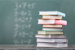 Educate. Background concept school auditorium black blackboard stock image