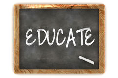 Educate Blackboard. A Colourful 3d Render Educate Concept Blackboard Illustration Royalty Free Stock Photo