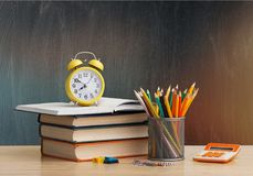 Educate. Concept auditorium background blackboard chalkboard class stock image