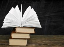 Educate. Book background chalkboard school classroom college stock photo