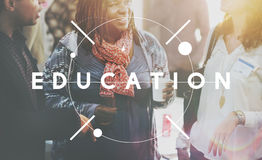 Educate Learn Knowledge Education Learning Concept. People are talking about education Royalty Free Stock Photography