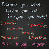 Educate your mind, inspire your soul Royalty Free Stock Photos