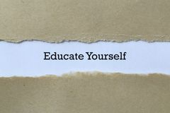 Free Educate Yourself On Paper Stock Photos - 168234963