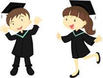 A Educated Boy and Girl Stock Photos