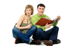 Educated couple Stock Images