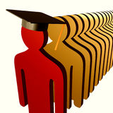 Educated leader icon Royalty Free Stock Photos